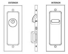 Emtek Products Inc 2113 Keyed Emtek Modern Solid Brass Mortise Pocket Door Keyed Lockset Emtek Pocket Door Hardware Template
