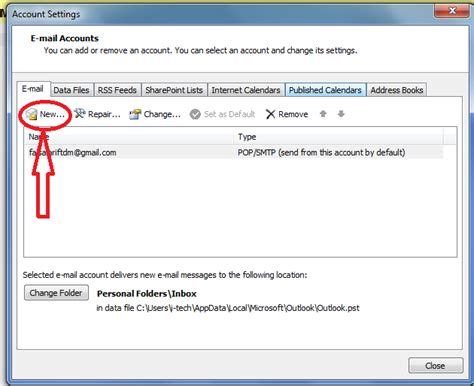 How To Add Email Accounts To Microsoft Outlook   how to add another email account to existing microsoft