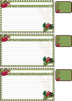 Free Oversized Printable Recipe Cards Including A Place To Jot Down A Shopping List Free Jot Labels Template