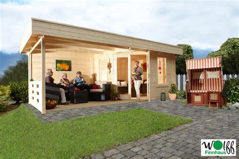 garden haus kaufen gartenhaus flachdach 171 280x280cm mit terrassenanbau 187 f 252 nf
