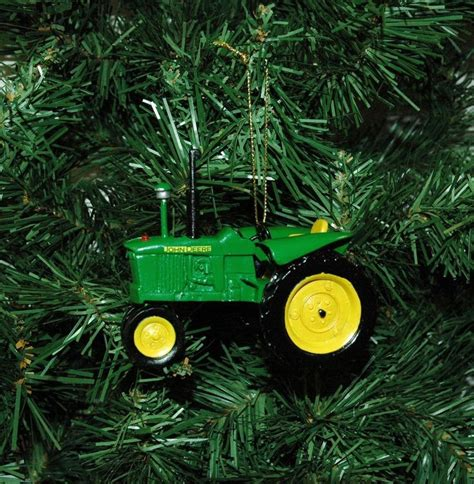 tractor christmas tree lights green and yellow deere tractor ornament ornaments