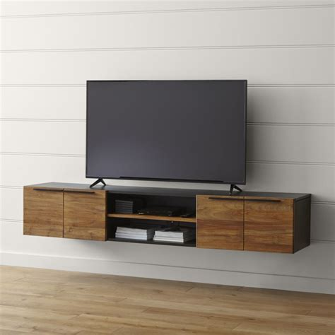 besta eckregal rigby 80 5 quot large floating media console crate and barrel