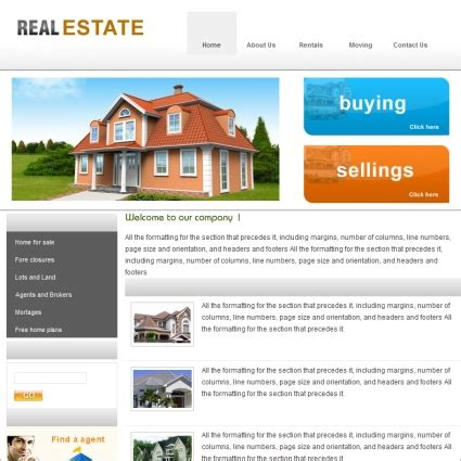 templates for real estate website real estate template free website templates in css html