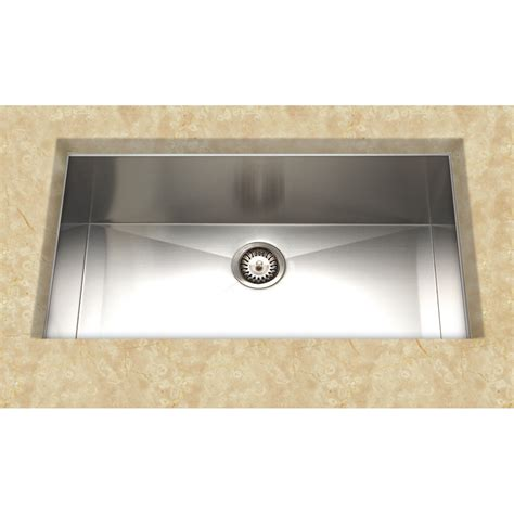 Lowes Undermount Kitchen Sinks Cantrio Koncepts Kss 004 Undermount Single Basin Kitchen Sink Stainless Steel Lowe S Canada