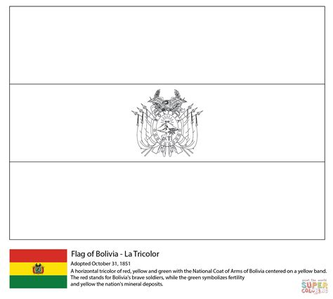 bolivia flag coloring page free printable coloring pages