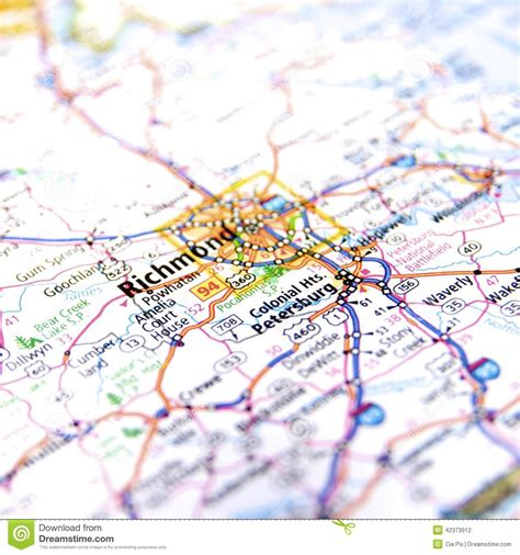 road map of virginia usa richmond virginia road map stock photo image 42373912