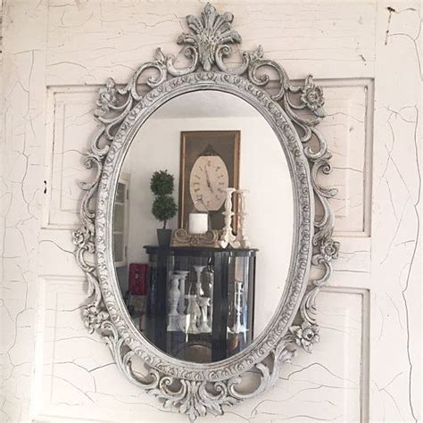 white shabby chic wall mirror distressed oval mirror white shabby chic decorative