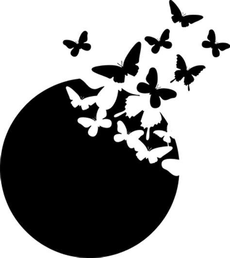 imagenes de mariposas siluetas vinilo decorativo reloj mariposas tenvinilo
