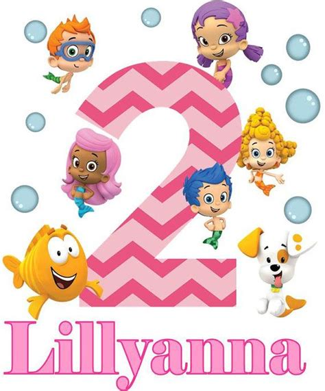 bubble guppies printable iron on bubble guppies birthday iron on applique with name