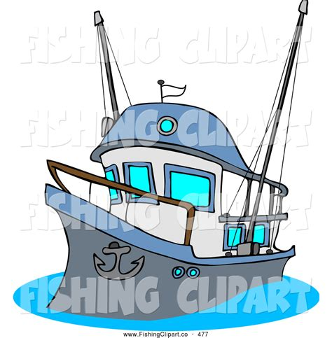 trawler boat clipart clip art of a fishing trawler boat with raised anchor by