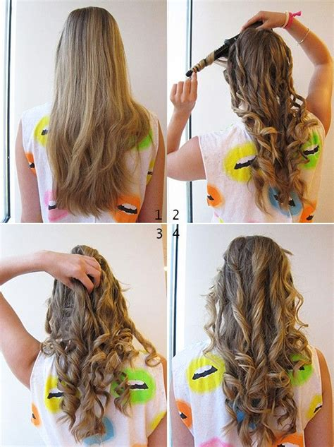 cute ways to curl ur hair with a wand how to make curly hair by straightener nail art styling