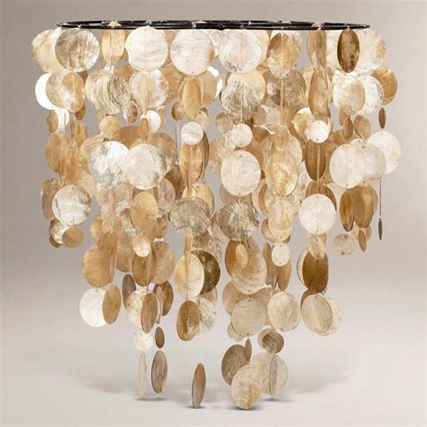 Gold Capiz Chandelier Gold Capiz Shell Chandelier
