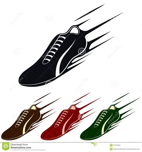 running shoes vector running shoe vector illustration stock vector image