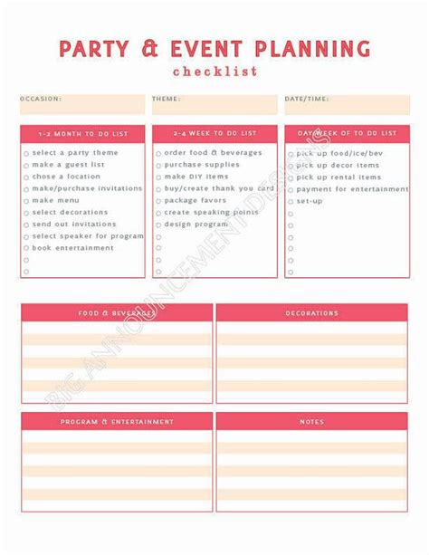 5 Best Images Of Party Event Printable Planner Party | 25 best ideas about event planners on pinterest event