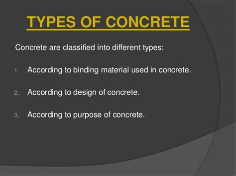 What Type Of Cement To Use For Concrete Countertops by Concrete Classification Properties And Testing