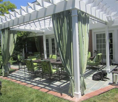 Pergola With Curtains Pergola With Drapes White Pergola With Curtains Sukkah Pinterest White Pergola And Pergolas