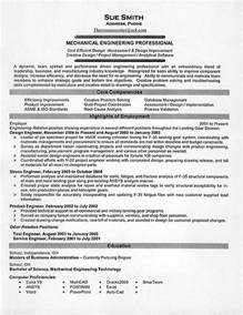 mechanical engineering resume exle resume exles