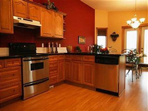 honey oak kitchen cabinets wall color orange kitchens with cherry cabinets and stainless steel