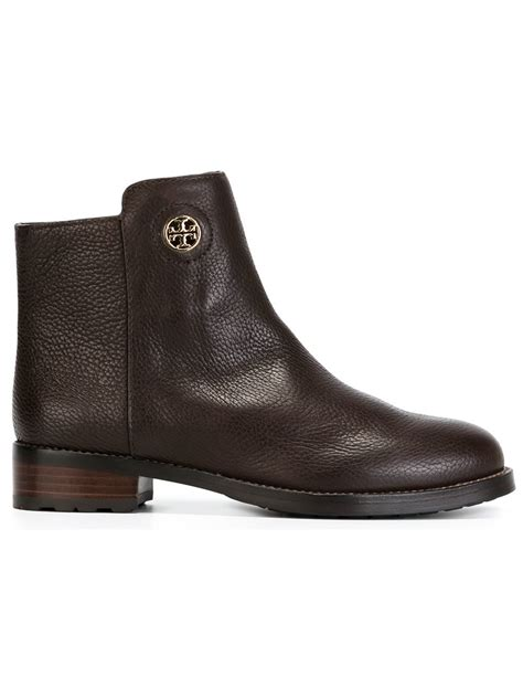 burch boots sale burch logo boots in brown lyst