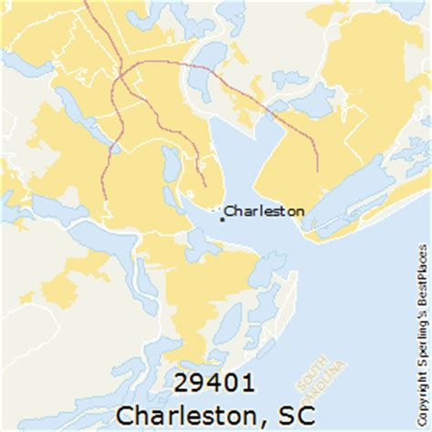 zip code map charleston sc best places to live in charleston zip 29401 south carolina