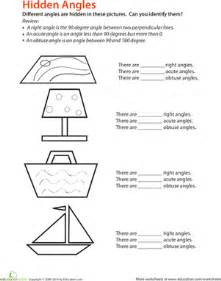 identifying angles worksheet education com