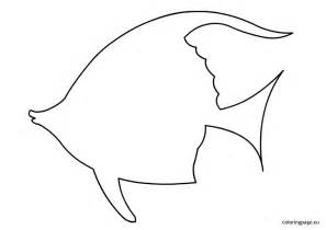 Template Fish by Fish Coloring Page