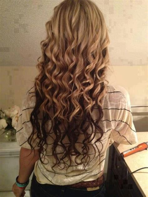 my hair under top layer is wacy long spiral curls hair styles pinterest curls