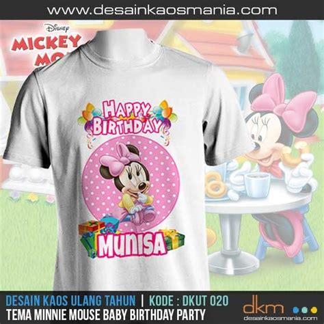 Kaos Cupids Minie Mousw desain kaos ulang tahun anak gambar unik dan lucu