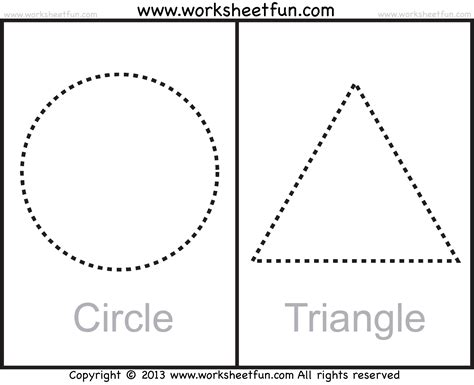 triangle pattern to trace free coloring pages of circle shape work sheet