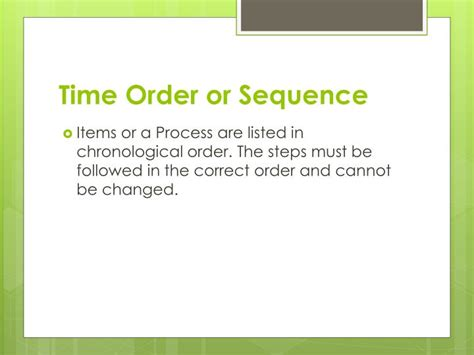 time order pattern of organization words ppt patterns of organization and signal words powerpoint