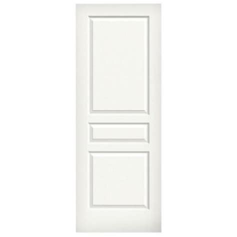 jeld wen woodgrain 3 panel painted molded interior door