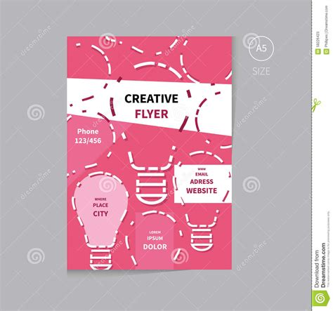 free templates for a5 flyers vector flyer brochure design template size a5 stock vector