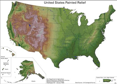 map usa relief maps united states map relief