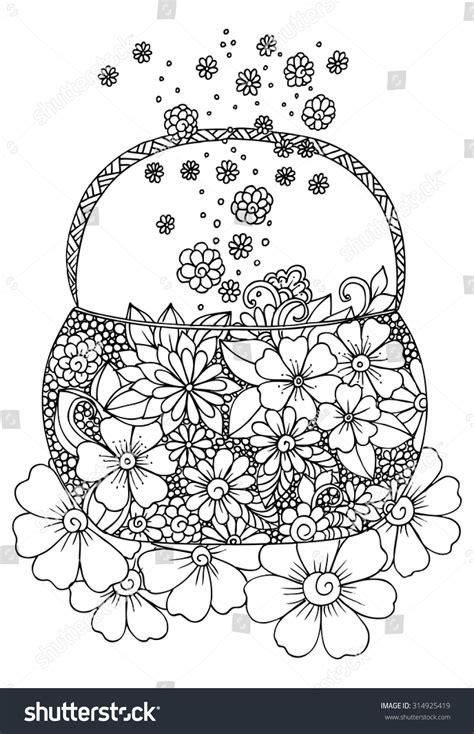 flower doodle bag doodle flowers bag stock vector 314925419