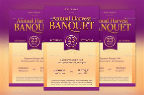 Banquet Flyer Template Church Harvest Banquet Flyer Poster Template By Godserv2