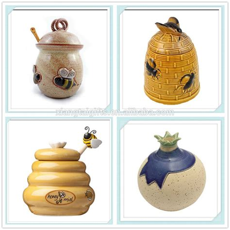 ceramic honey pot with a decorative dipper buy ceramic honey pot ceramic honey pot ceramic
