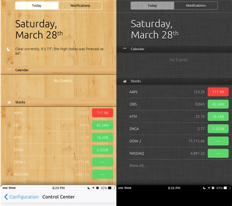 themes for notification center vex themes for control center notification center ios 8