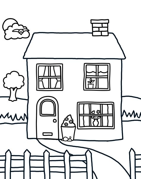 printable coloring pictures of a house free printable house coloring pages for kids dog house