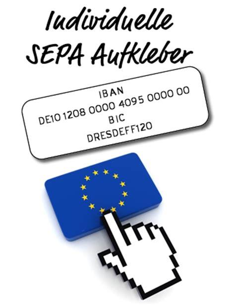 Aufkleber Bestellen Polen by Iban Bic Aufkleber Etiketten F 252 R Sepa