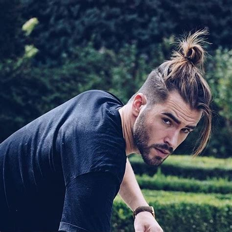 mens top knot hairstyle time 40 crazy mens undercut hairstyles with beard