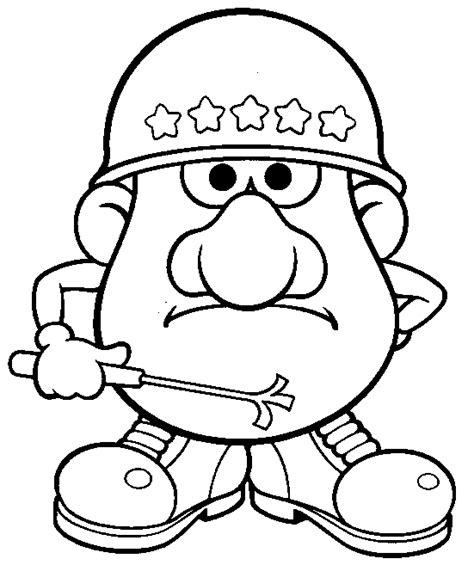 coloring mr potato head with bag coloring pages
