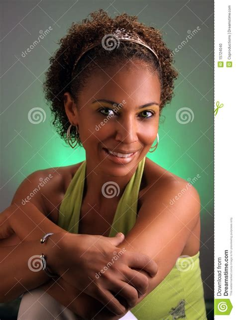 pretty older black lady beautiful mature black woman headshot 3 stock photo
