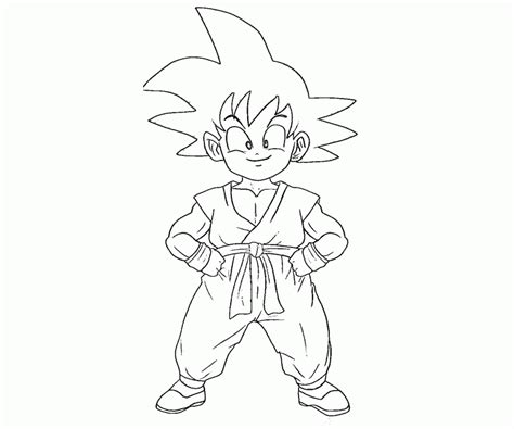 40 Goku Coloring Pages Coloringstar Kid Goku Coloring Pages
