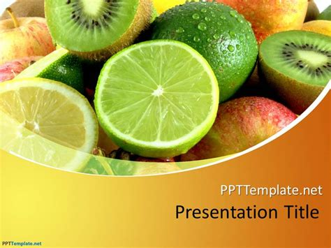 free nutrition powerpoint templates free fruit ppt template