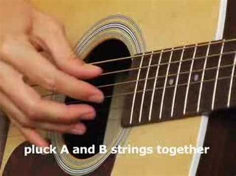 tutorial guitar plucking how to play acoustic guitar lesson basic finger picking