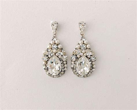 Ohrringe Hochzeit Vintage by Pearl Wedding Earrings Vintage Www Pixshark Images