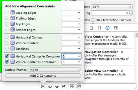 Xcode Layout Alignment | a guided tour of xcode 6 techotopia