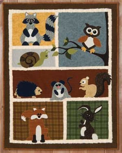 Wildlife Quilt Patterns Free by Woodland Wildlife Quilt Pattern Product Details