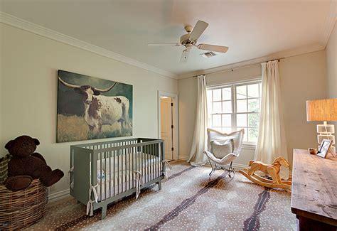 Cowhide Rug Nursery - green crib country nursery cote de