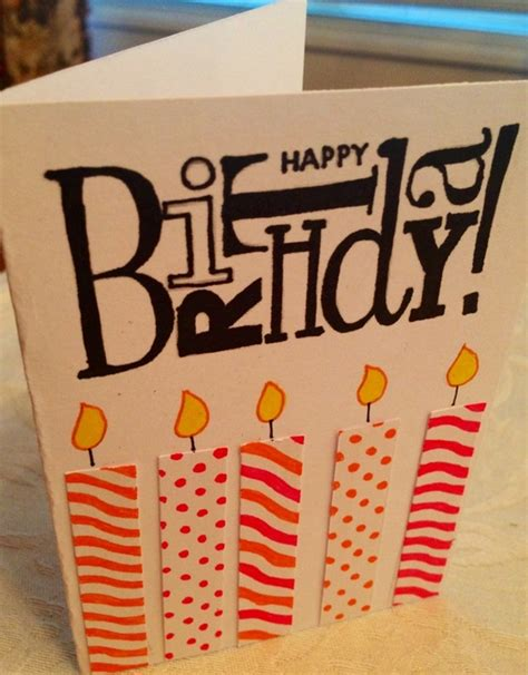 Simple Handmade Birthday Card Designs - 35 beautiful handmade birthday card ideas